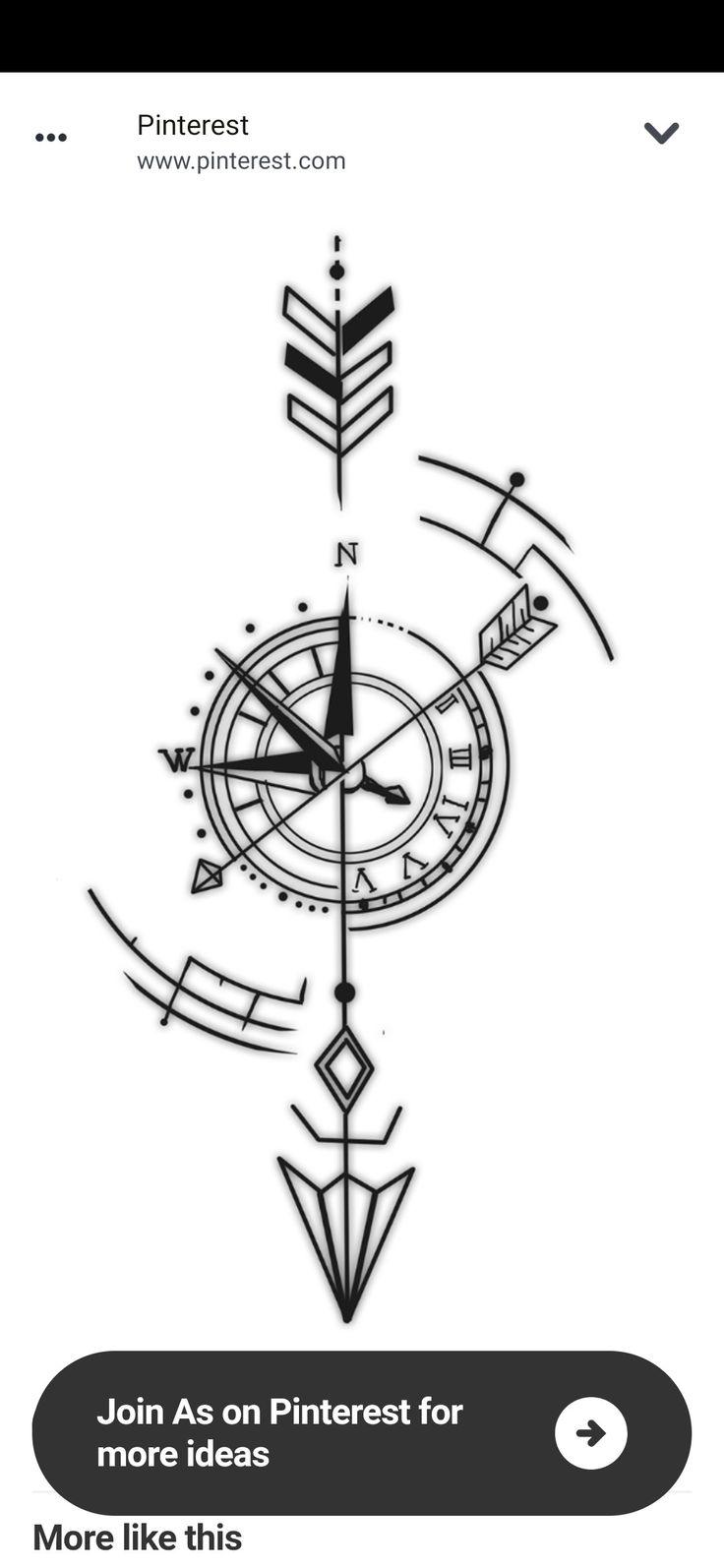 Viking Compass Tattoo, Mandala Compass Tattoo, Simple Compass Tattoo, Arrow Compass Tattoo, Compass Tattoo Design, Geometric Compass, Geometric Wolf Tattoo, Geometric Tattoo Design, Arrow Tattoos For Women