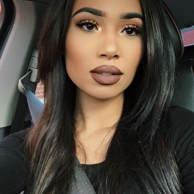 "Lips: @nyxcosmetics liquid suede. ""Sandstorm""  @rubykissescosmetics matte lipstick ""spicy brown"" @colourpopcosmetics ultra matte lipstick ""platform"""