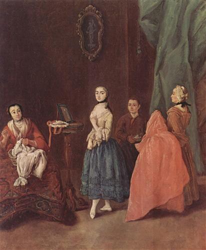 Lady at the Dressmaker - Pietro Longhi