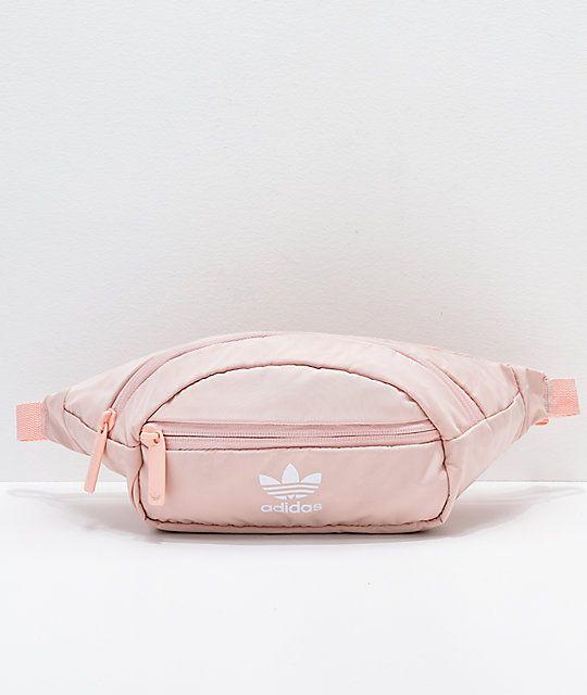da6cdcdf955a adidas Originals Pink & White Waist Pack in 2019 | i give zero fucks ...