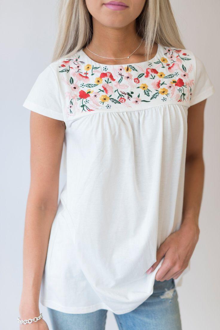 Embroidered Garden Top