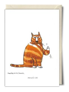 Pavlov's Cat - Rude Birthday Card from Mike Williams