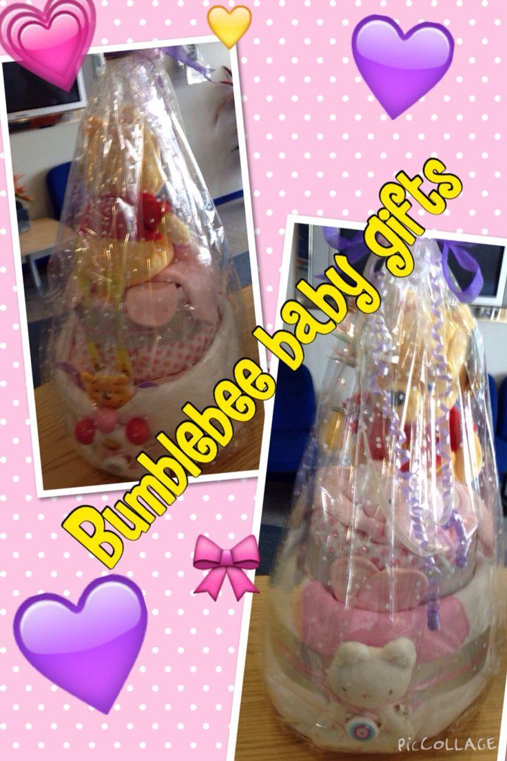 Winnie the Pooh themed girls nappy cake