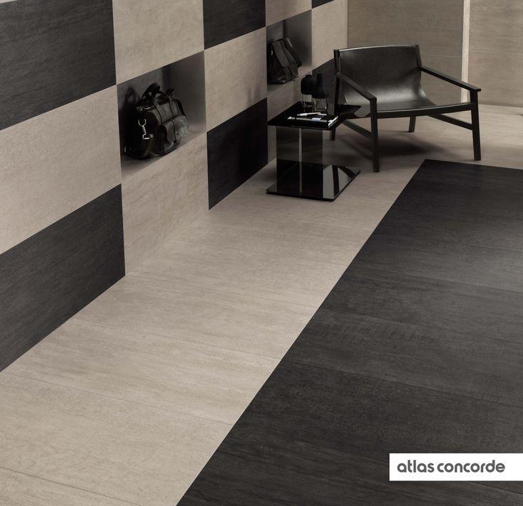 #MARK chrome and graphite | #Floor design | #AtlasConcorde | #Tiles | #Ceramic | #PorcelainTiles