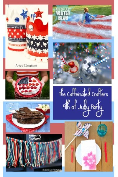 The Caffeinated Crafters throw a 4th of July party!