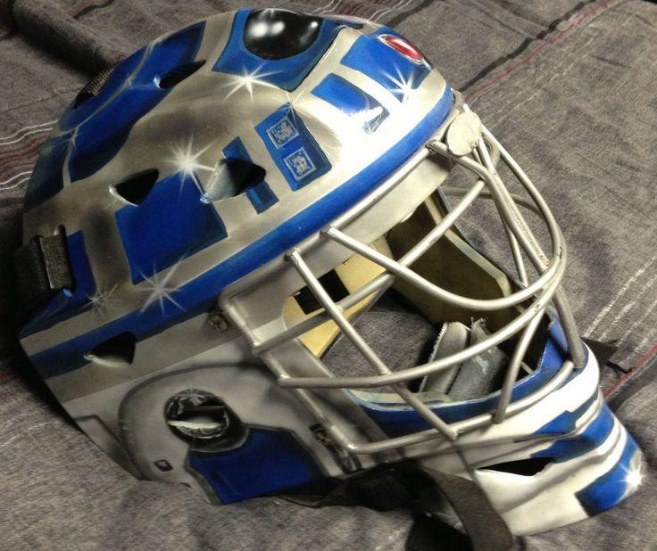 R2-D2 Star Wars Itech hockey goalie mask