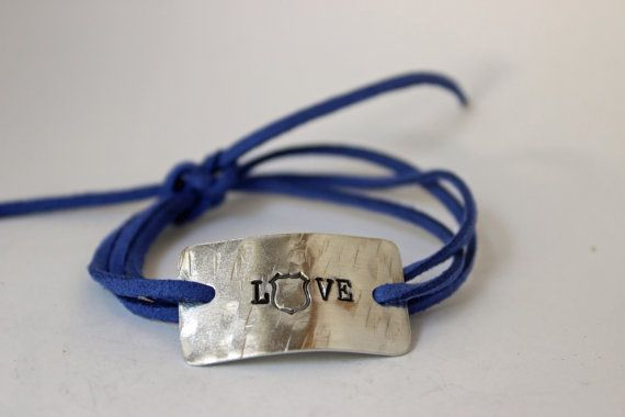 police wife bracelet police jewelry love an officer by Bstamped