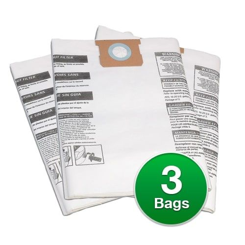 Genuine Vacuum Bag for ShopVac Standard 16 Gallon with inlet Vacuums