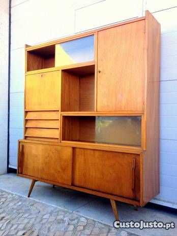 Estante vitrine olaio vintage 140comp X 30prof X 3 - à venda - Móveis &…