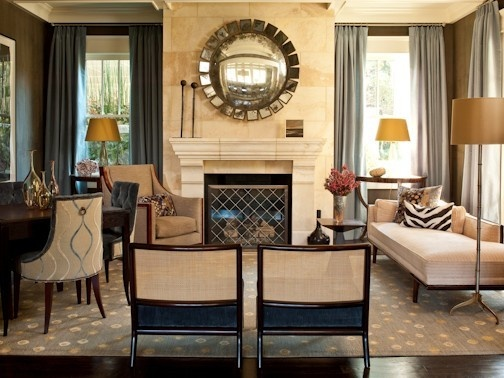 Traditional Living Room Design, Pictures, Remodel, Decor and Ideas - page 38 - love the dining room chairs