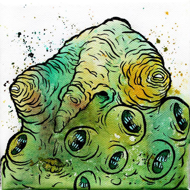 mini monster painting by glönn
