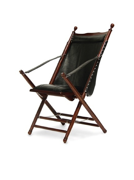 Palecek Stanford Wood U0026 Leather Folding Chair