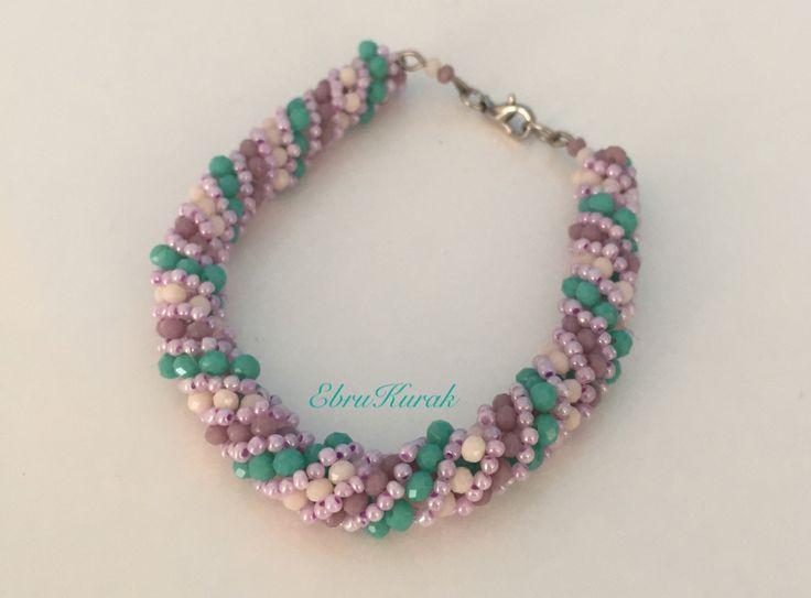 Takı tasarım , dönen helezon , burgu helezon , russian spiral , bileklik , kendin yap , dıy ,bracelet , necklace ,ornament , trappings , glass bead