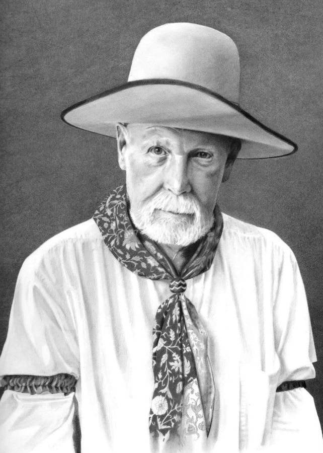 Graphite art by award winning artist Karen Clarkson specializing in Native American and cowboy portraits.