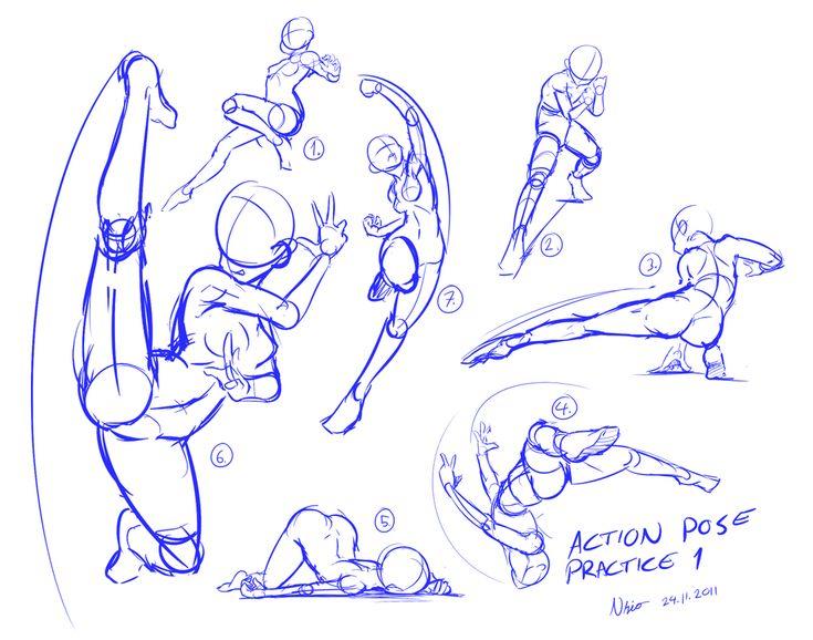 Action pose practice 1 by Nsio.deviantart.com on @deviantART