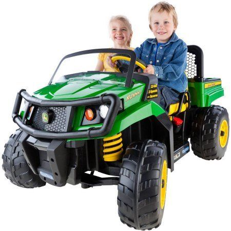 Peg Perego IGOD0063 John Deere Gator XUV 12-volt Battery-Powered 4.5 Mph Speed, 130 Pounds Weight Capacity Ride-On   With the Peg Perego John Deere Gator XUV Ride-On, adventurous kids can ride just like mom and Read  more http://shopkids.ca/peg-perego-igod0063-john-deere-gator-xuv-12-volt-battery-powered-4-5-mph-speed-130-pounds-weight-capacity-ride-on/