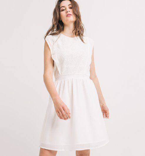 Sukienka z haftem angielskim