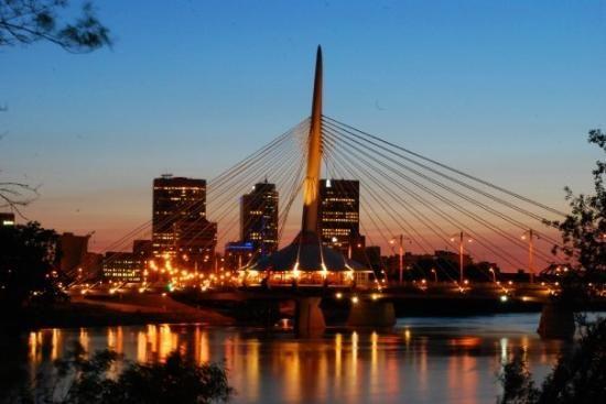 Winnipeg at night -- beautiful. #GILoveManitoba