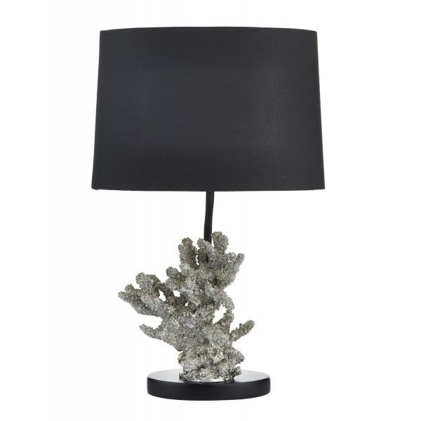 Kora Table Lamp Silver complete with Shade - catalogue