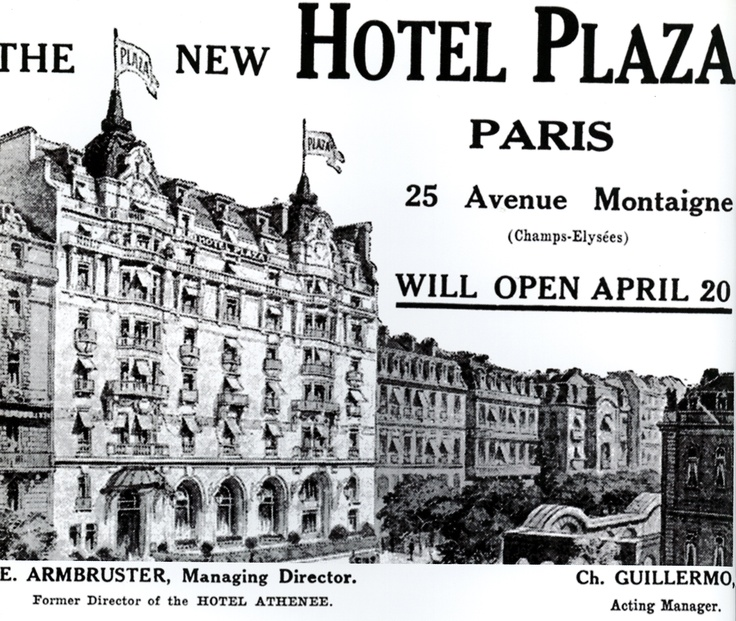 Opening of the Plaza Athénée !