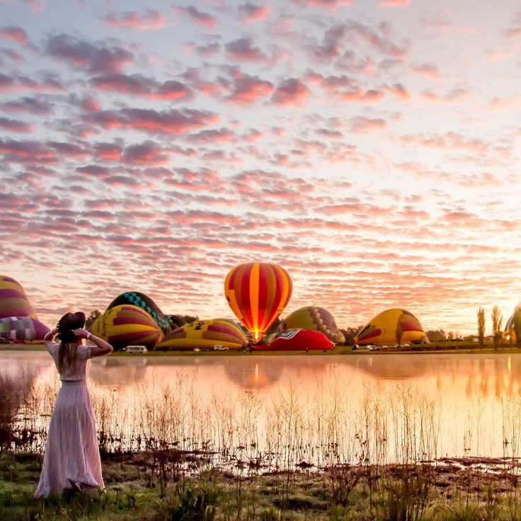 """Early Morning Majestic  ------------------------------------------- There is nothing more majestic than a hot air balloon starting it's slow assent into…"""