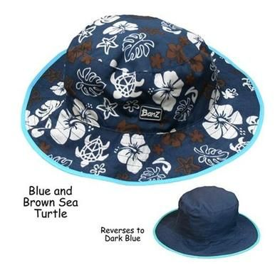 e86fb9529c5c Baby Banz BHRBRT UV Blue Sea Turtle Reversible Hat - Ages 0-2 Years - Baby  Products