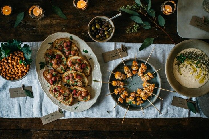 Sesame butternut squash skewers and crostini by Lindsey Love for Gardenista