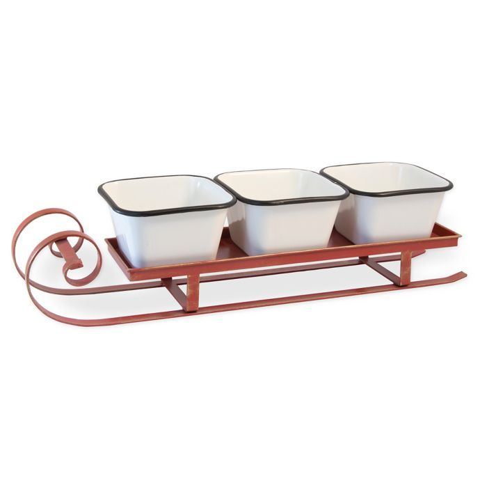 Sleigh Chip And Dip Server Set Bed Bath Beyond With Images
