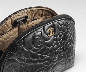Chanel Camellias cosmetic bag