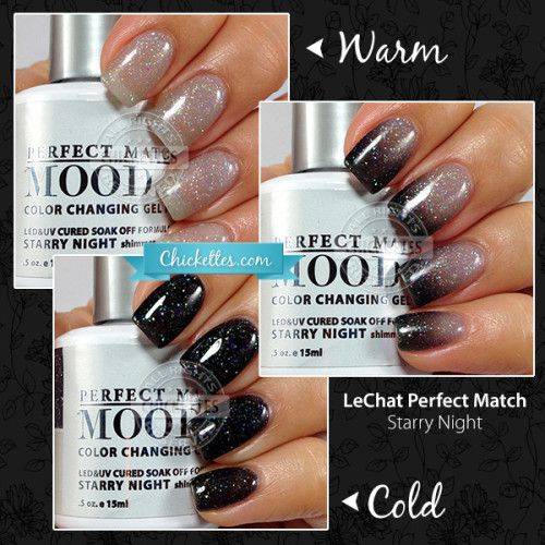 Lechat Perfect Match Mood Gel Polish Starry Night Soak Off Swatches Pinterest Nails And