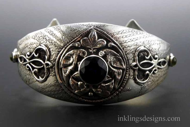 Sterling silver peacock cuff bracelet for C leslie smith jewelry