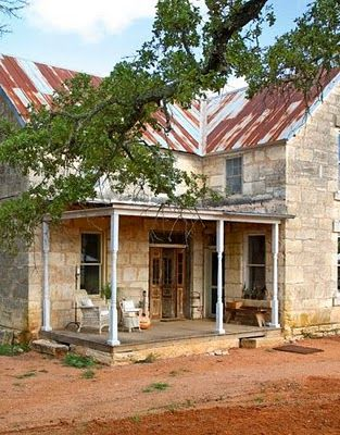 Old, stone farmhouse set deep in the Hill Country of east Texas built by German immigrants in the late 1800s.
