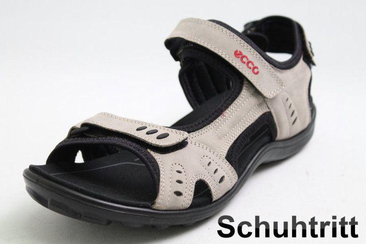 Sommerliche Sandale von Ecco, im modichen grau Farbton gehalten. Diese tolle Ecco Sandale ist mit einem funktionellen 3 punkt Klettverschluss ausgestattet.  Hersteller: Ecco  Modell: Sandaletten  Farbe: grau  Obermaterial: Leder...