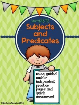 Complete Subjects and Predicates - A Week of Practice