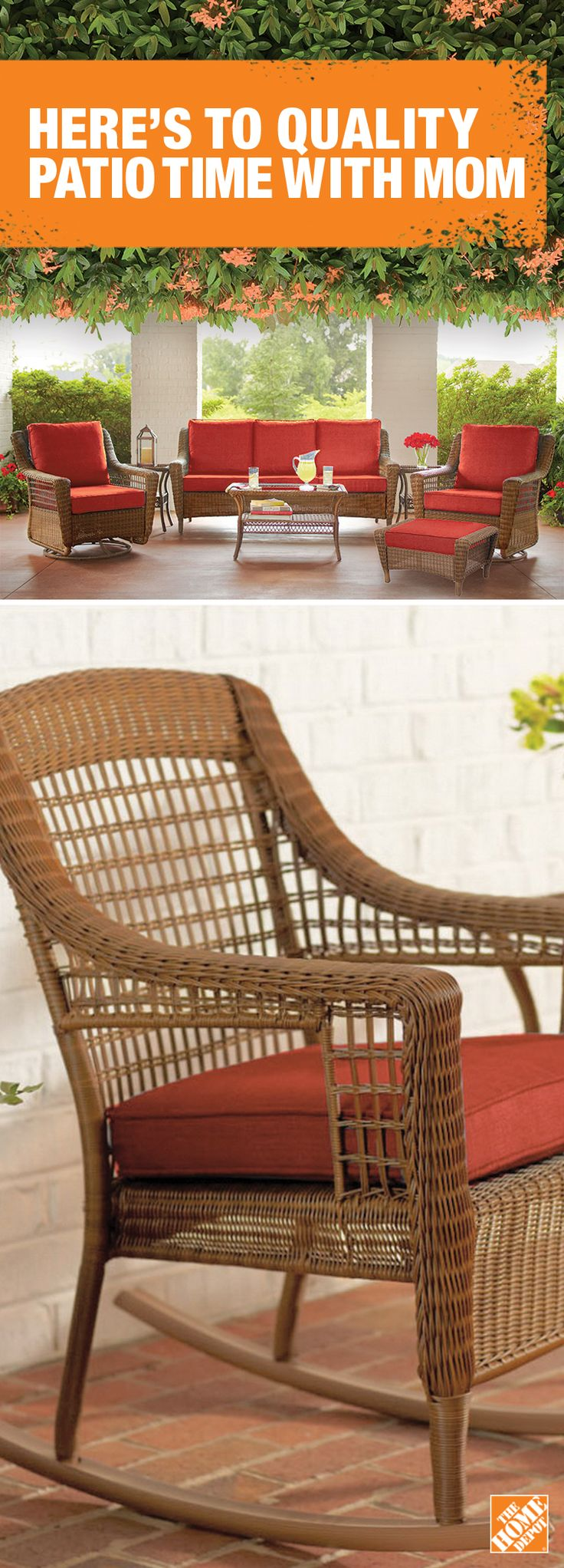 Give mom's patio a heart-warming, natural feel with this intricately woven, wicker furniture. Shop now at HomeDepot.ca: http://hdepot.ca/2pAXJ2R