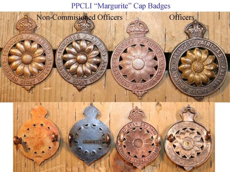 PPCLI Margurite Cap badges.    Princess Patrica's Canadian Light Infantry.