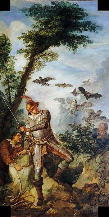 Дон Кихот и птицы из пещеры Монтесинос. Шарль-Жозеф Натуар