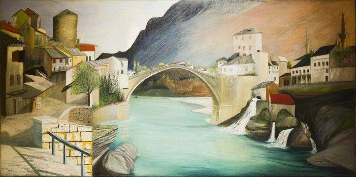 Csontváry Kosztka Tivadar - Római híd Mosztárban