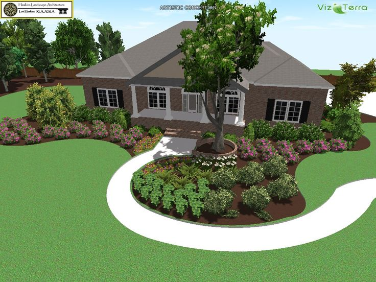 17 best images about new home landscaping ideas on for Latest home garden design