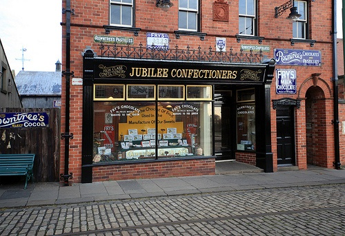 Jubilee Confectionery is a traditional sweet shop in Beamish, The North of England Open Air Museum. It's set in the year 1913, just prior to World War I and the end of the Edwardian era and the Belle Époque.