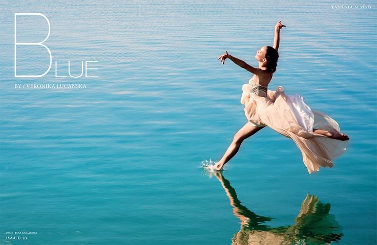 Blue / Tantalum 13 / #photography by Veronika Lucanska / #fashion styling Angelika Königseder / #hair & #makeup Sandra Maron / #model Lara Marchetti (Wiener Models) / dress Jana Gavalcova