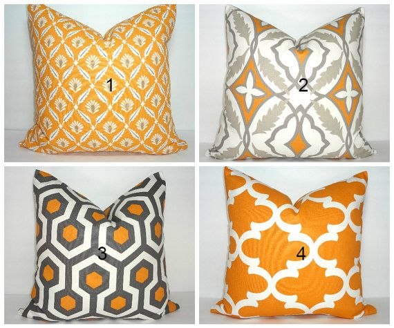 FALL SALE Autumn Pumpkin Orange Pillow Covers by HomeLiving