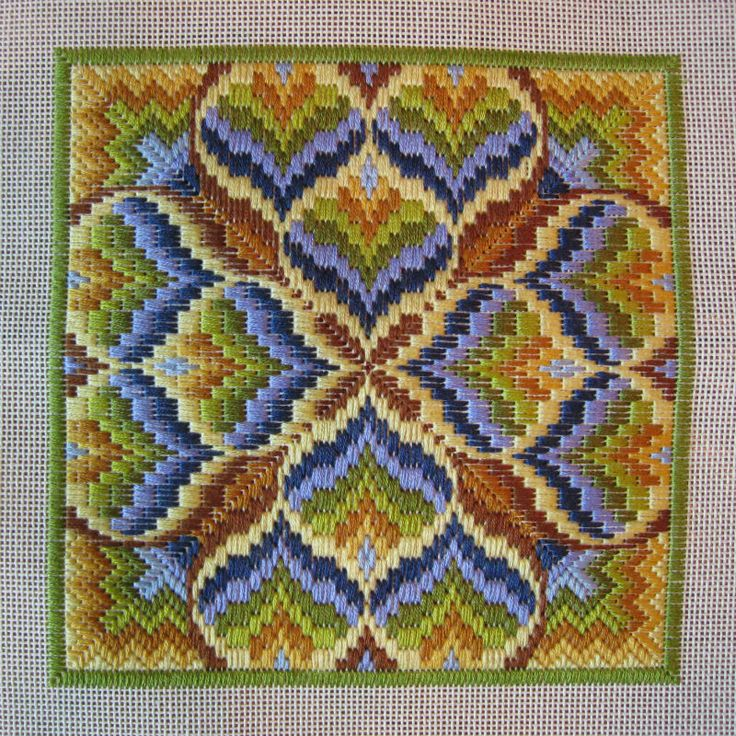 Basically Bargello | Stitching Lotus color progressions