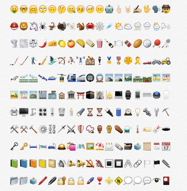 The New Emoji in the Next iOS Update Are Going to Change Your Life via Brit + Co.