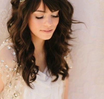 Wedding Hairstyles for Bangs