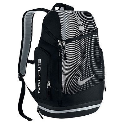 NEW NIKE HOOPS ELITE MAX AIR GRAPHIC BACKPACK (BA5264-011)  Black/Wolf Grey