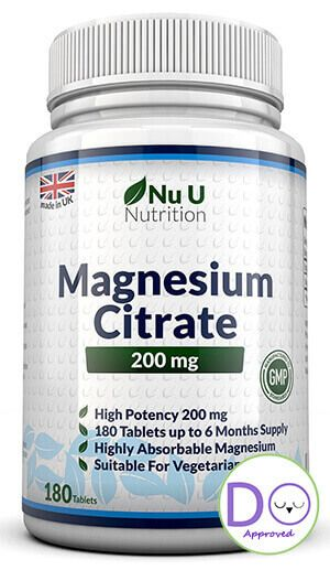 Magnesium citrate before bed