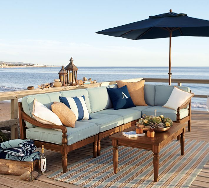 Inspiration for when I buy a house on the beach. My patio will look like this! So realxing...