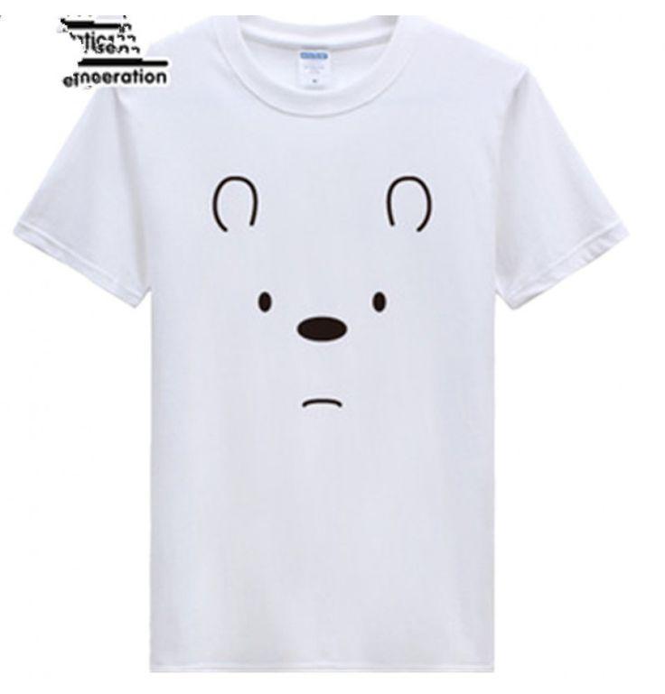 Timecosplay WBB We Bare Bears IceIce Bear Short Sleeve Tee Shirts