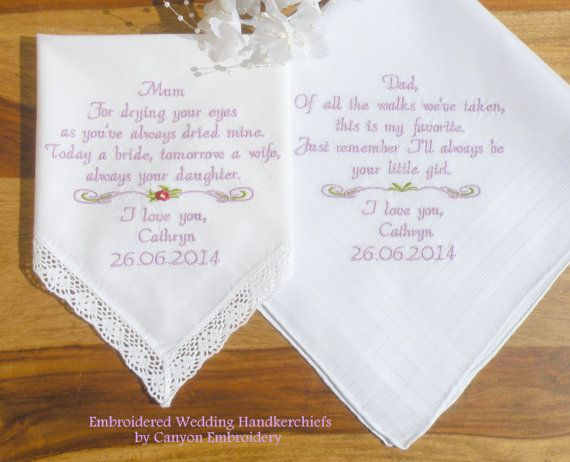 Shop Wedding Gifts: 1000+ Images About Embroidered Wedding Handkerchiefs On